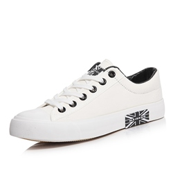 Shoespie Canvas Lace-Up Round Toe Men's Sneakers