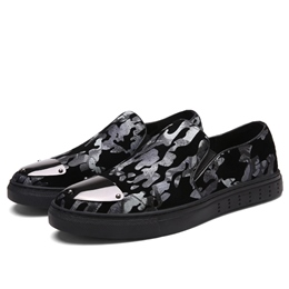 Shoespie Camouflage Sequin Round Toe Men's Sneakers