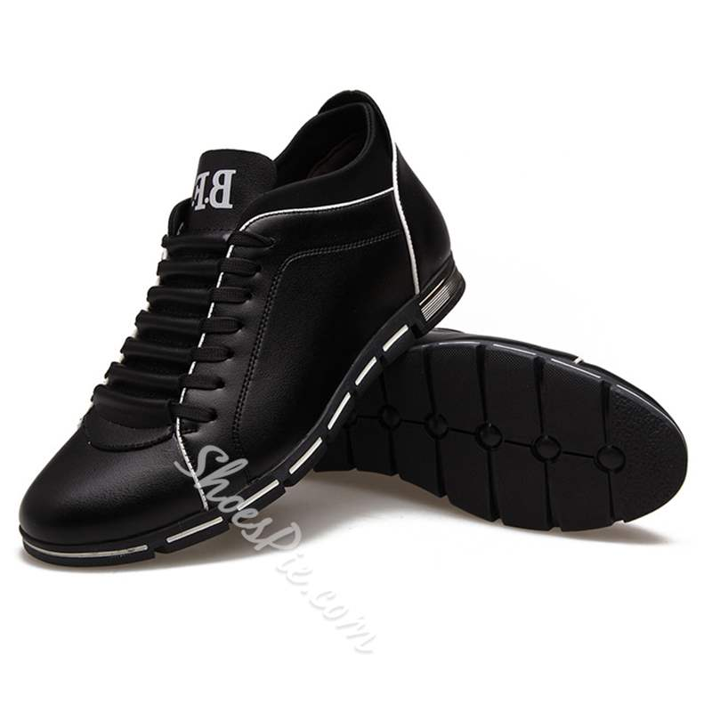 Shoespie Lace-Up Comfortable Round Toe Men's Shoes