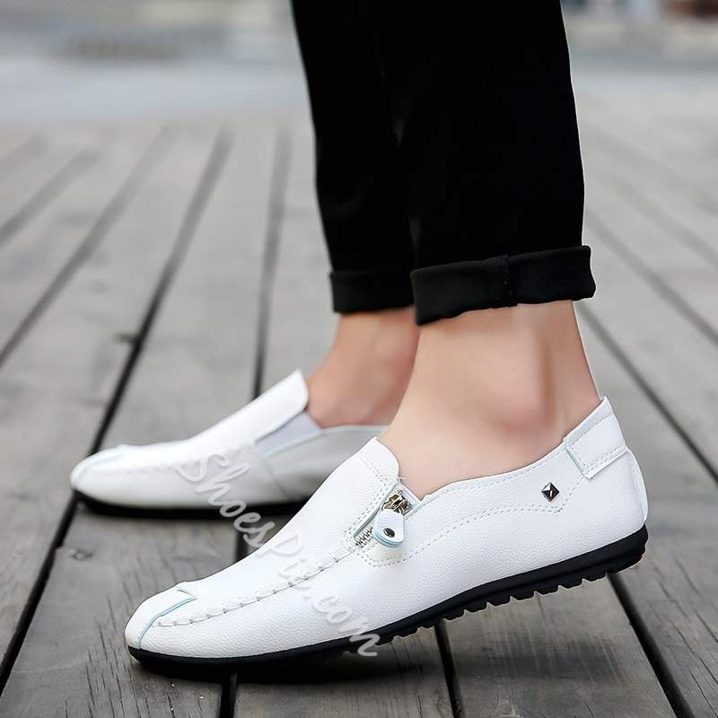 Shoespie Zipper Slip-On Men's Loafers