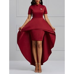 Spandex Patchwork Office Lady Women's Bodycon Dress