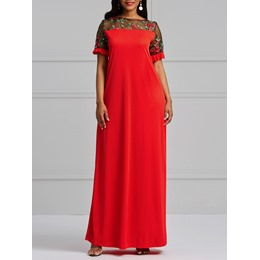 Shoespie Embroidery Floral Women's Maxi Dress