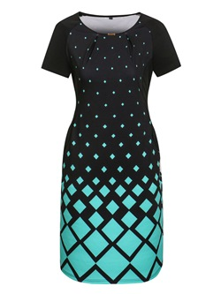Shoespie Plusee Pullover Geometric Women's Bodycon Dress
