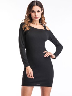 Shoespie Plain Pullover Women's Bodycon Dress