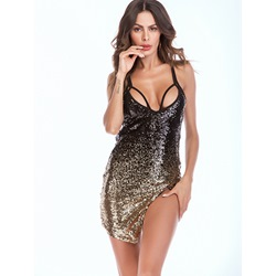 Shoespie Asymmetric Sequins Women's Bodycon Dress
