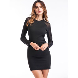 Shoespie Patchwork Plain Women's Bodycon Dress