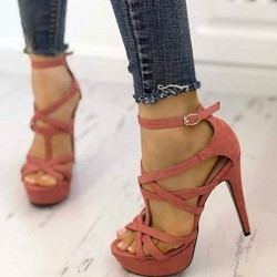 Cute Peep Toe Platform Stiletto High Heels