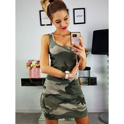 Shoespie Camouflage Pullover Women's Bodycon Dress