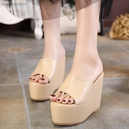 Shoespie Platform Thong Casual Mules Shoes