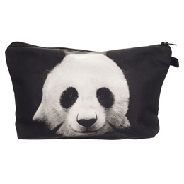 Shoespie Panda Zipper Cosmetic Bag