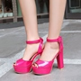 Shoespie Platform Ankle Strap Chunky Heel Dress Sandals