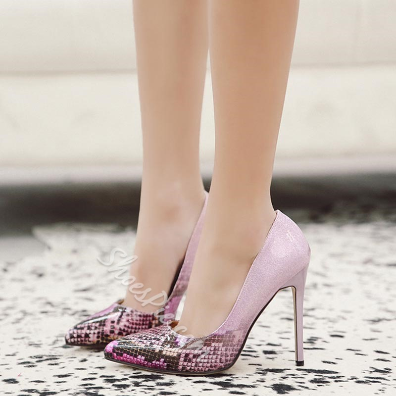 Casual Slip-On Pointed Toe Stiletto Heels