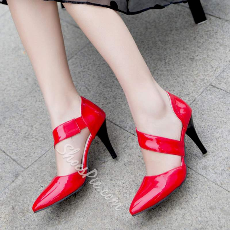 Shoespie Casual Pointed Toe Slip-On Stiletto Heels