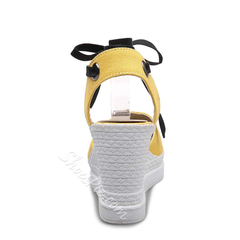 Ankle Strap Round Toe Wedge Women's Sandals