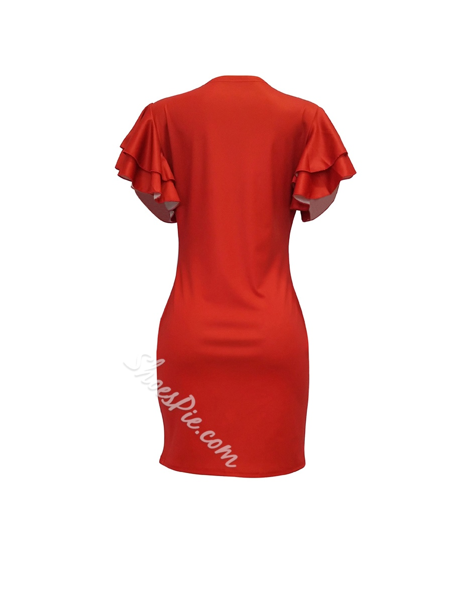Shoespie Lace-Up Print Pullover Women's Bodycon Dress