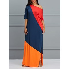 Shoespie Pullover Polyester Women's Maxi Dress