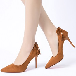 Shoespie Fringe Pointed Toe Stiletto Heels