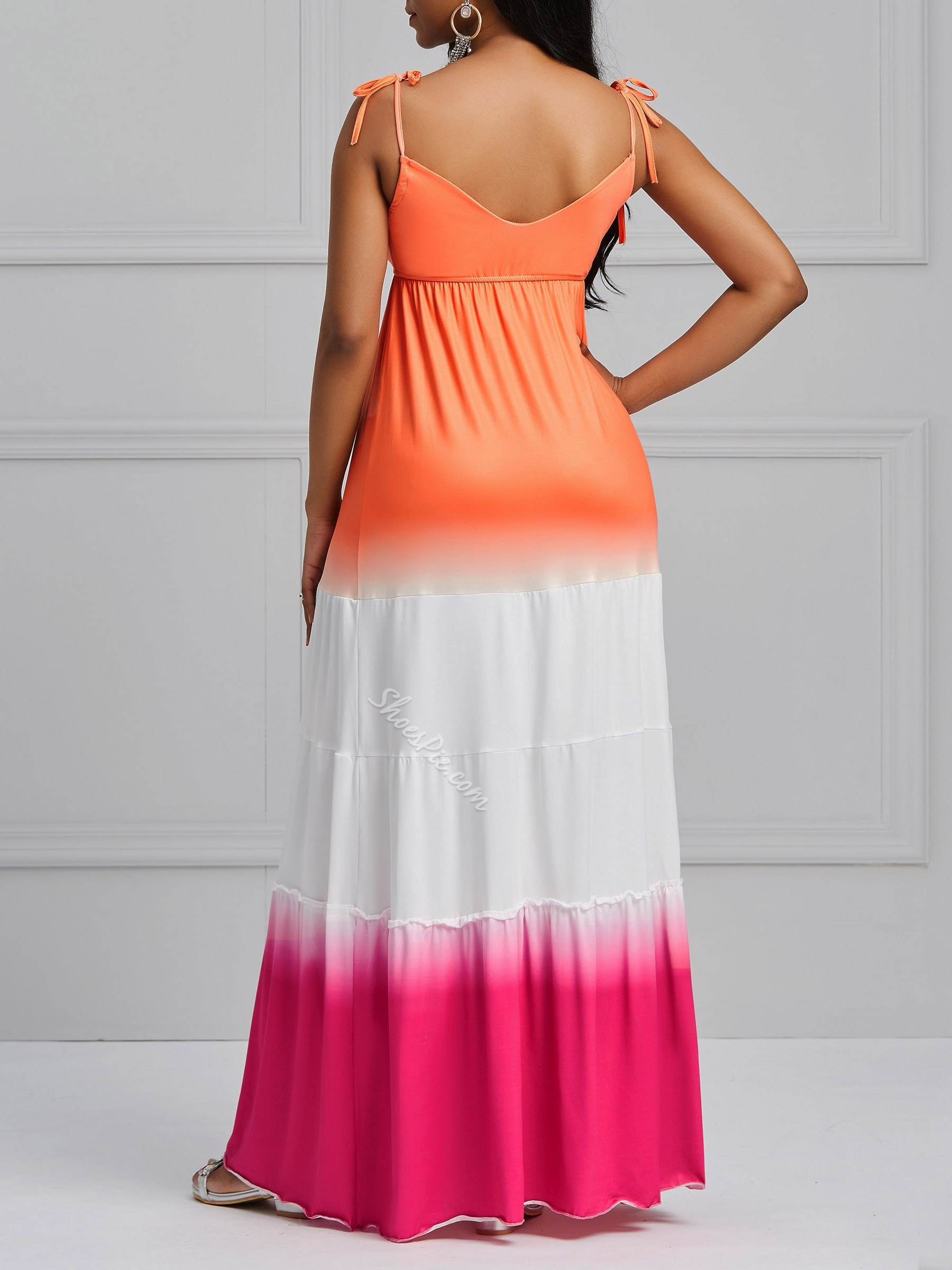Gradient Backless Sexy Women's Maxi Dress