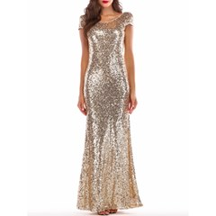 Shoespie Mermaid Pullover Sequins Women's Maxi Dress