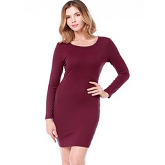 Shoespie Round Neck Elegant Fall Women's Bodycon Dress
