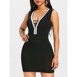 Shoespie Pullover V Neck Backless Women's Bodycon Dress