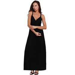 Shoespie Pleated Sexy V Neck Women's A-Line Dress