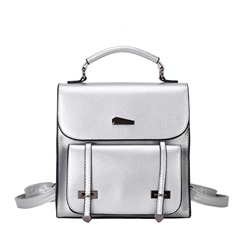 Shoespie Plain Casual Belt Decorated Small Backpack