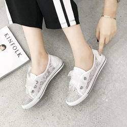 Diamond Lace-Up Casual Mesh Sneakers