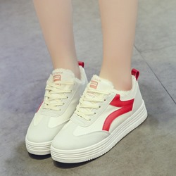 Shoespie Platform Lace-Up Round Toe Sneakers