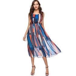 Shoespie Print Geometric Summer Women's Maxi Dress