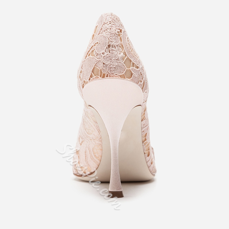 Shoespie Buckle Pointed Toe Bridal Shoes