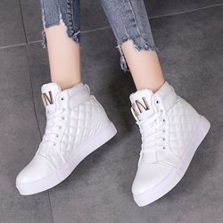 Shoespie Platform High-Cut Upper Sneakers