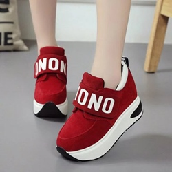 Shoespie Platform Letter Mesh Round Toe Sneakers