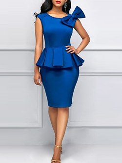 Shoespie Falbala Bowknot Elegant Women's Bodycon Dress