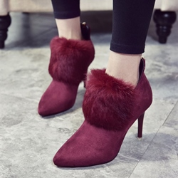 Shoespie Plain Suede Pointed Toe Ankle Boots