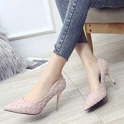 Shoespie Plain Low-Cut Upper Stiletto Heels