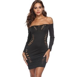 Shoespie Slash Neck Hollow Sexy Women's Bodycon Dress