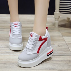 Shoespie Color Block Round Toe Sneaker