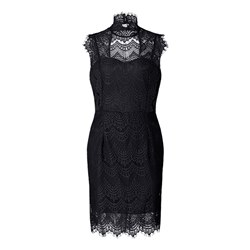 Shoespie Sleeveless Hollow Backless Lace Women's Bodycon Dress