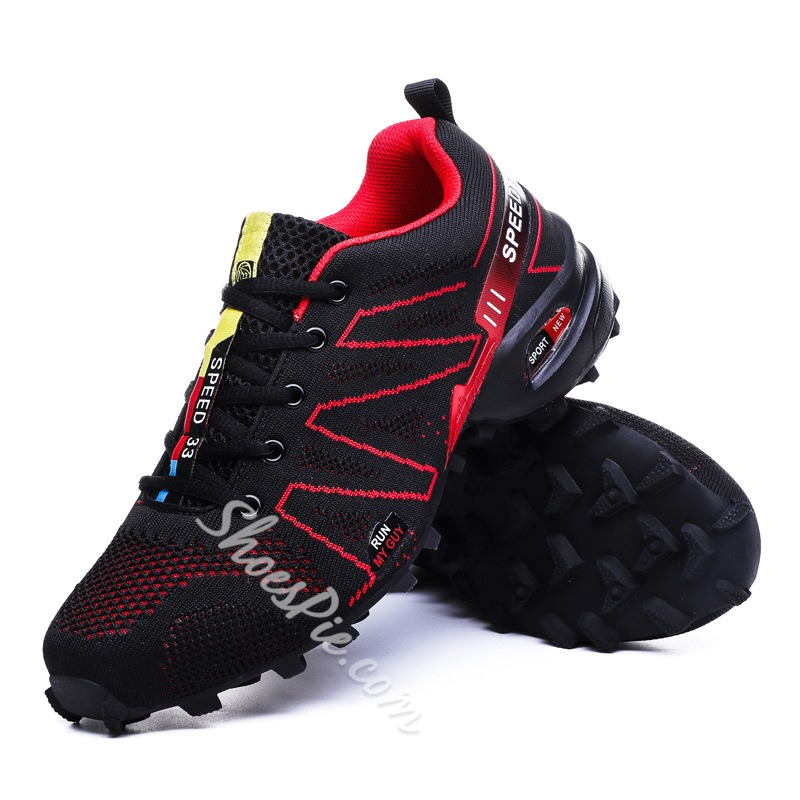 Shoespie Color Block Mesh Athletic Shoes