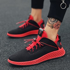 Shoespie Elastic Band Round Toe Athletic Shoes