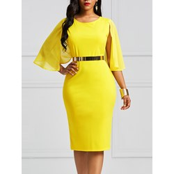 Shoespie Chiffon Hollow Backless Women's Bodycon Dress