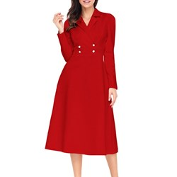 Shoespie Office Lady Fall Women's Button Down Dress