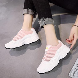 Shoespie Patchwork Color Block Mesh Sneakers