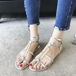 Sequin Ankle Strap Buckle Thong Slipper