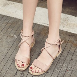 Buckle Open Toe Heel Covering Slipper