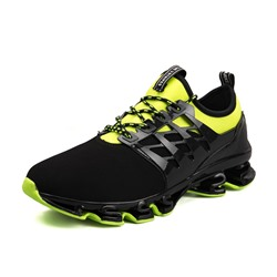 Rubber Round Toe Color Block Sneakers
