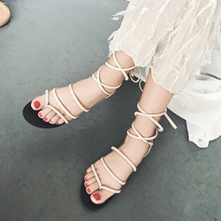Lace-Up Thong Casual Gladiator Sandals