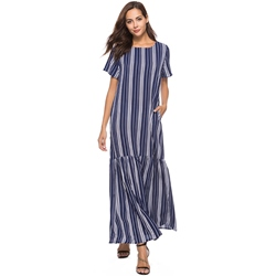 Shoespie Stripe Pullover Women's A-Line Dress