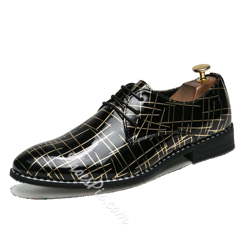 Shoespie Lace-Up Banquet Men's Oxfords